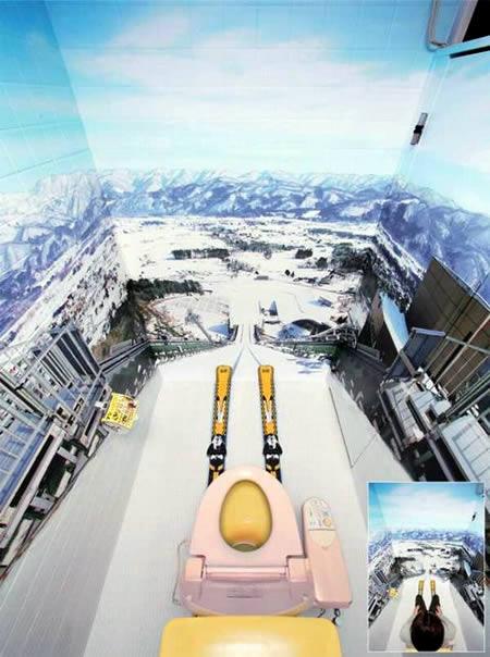 Para que gosta de esportes radicais, nada como 'saltar' de ski